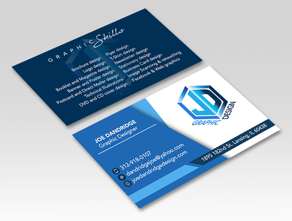 Business Card design – Joe Dandridge Portfolio