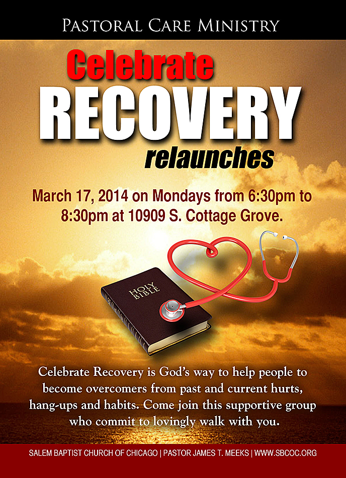 Flyers joe dandridge portfolio the pastoral care ministry needed this flyer to promote its celebrate recovery relaunch colourmoves